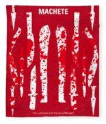 No114 My Machete Minimal Movie Poster Fleece Blanket