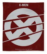 No123 My Xmen Minimal Movie Poster Fleece Blanket