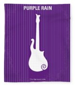 No124 My Purple Rain Minimal Movie Poster Fleece Blanket