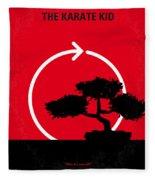No125 My Karate Kid Minimal Movie Poster Fleece Blanket