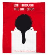 No130 My Exit Through The Gift Shop Minimal Movie Poster Fleece Blanket