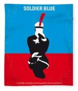 No136 My Soldier Blue Minimal Movie Poster Fleece Blanket