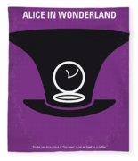 No140 My Alice In Wonderland Minimal Movie Poster Fleece Blanket