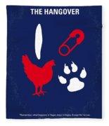 No145 My The Hangover Minimal Movie Poster Fleece Blanket by Chungkong Art