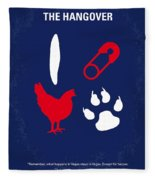 No145 My The Hangover Part 1 Minimal Movie Poster Fleece Blanket