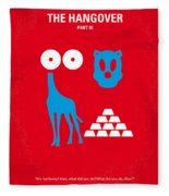 No145 My The Hangover Part 3 Minimal Movie Poster Fleece Blanket by Chungkong Art