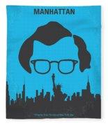 No146 My Manhattan Minimal Movie Poster Fleece Blanket