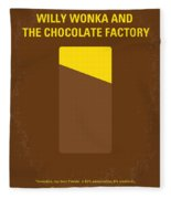 No149 My Willy Wonka And The Chocolate Factory Minimal Movie Poster Fleece Blanket
