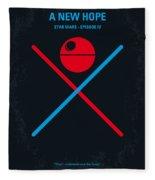 No154 My Star Wars Episode Iv A New Hope Minimal Movie Poster Fleece Blanket
