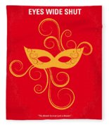 No164 My Eyes Wide Shut Minimal Movie Poster Fleece Blanket