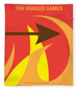 No175 My Hunger Games Minimal Movie Poster Fleece Blanket