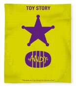 No190 My Toy Story Minimal Movie Poster Fleece Blanket