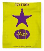 No190 My Toy Story Minimal Movie Poster Fleece Blanket