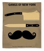 No195 My Gangs Of New York Minimal Movie Poster Fleece Blanket