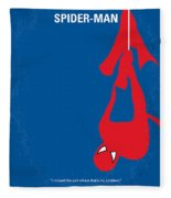 No201 My Spiderman Minimal Movie Poster Fleece Blanket