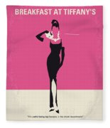 No204 My Breakfast At Tiffanys Minimal Movie Poster Fleece Blanket