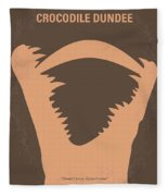 No210 My Crocodile Dundee Minimal Movie Poster Fleece Blanket