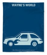 No211 My Waynes World Minimal Movie Poster Fleece Blanket