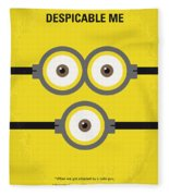 No213 My Despicable Me Minimal Movie Poster Fleece Blanket