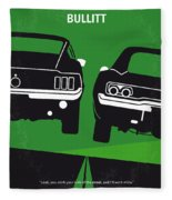 No214 My Bullitt Minimal Movie Poster Fleece Blanket