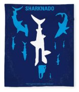 No216 My Sharknado Minimal Movie Poster Fleece Blanket