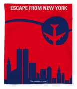 No219 My Escape From New York Minimal Movie Poster Fleece Blanket