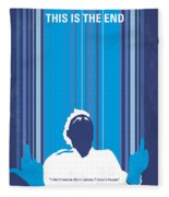 No220 My This Is The End Minimal Movie Poster Fleece Blanket