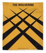 No222 My Wolverine Minimal Movie Poster Fleece Blanket