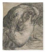 Couple In An Embrace Fleece Blanket