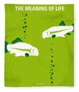 No226 My The Meaning Of Life Minimal Movie Poster Fleece Blanket