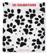 No229 My 101 Dalmatians Minimal Movie Poster Fleece Blanket