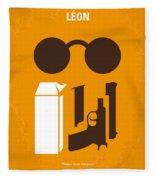 No239 My Leon Minimal Movie Poster Fleece Blanket