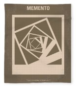 No243 My Memento Minimal Movie Poster Fleece Blanket