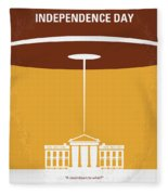 No249 My Independence Day Minimal Movie Poster Fleece Blanket