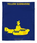 No257 My Yellow Submarine Minimal Movie Poster Fleece Blanket