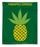 No264 My Pineapple Express Minimal Movie Poster Fleece Blanket