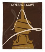 No268 My 12 Years A Slave Minimal Movie Poster Fleece Blanket