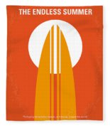 No274 My The Endless Summer Minimal Movie Poster Fleece Blanket by Chungkong Art