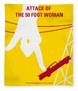 No276 My Attack Of The 50 Foot Woman Minimal Movie Poster Fleece Blanket