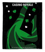 No277-007-2 My Casino Royale Minimal Movie Poster Fleece Blanket