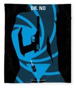 No277-007 My Dr No Minimal Movie Poster Fleece Blanket