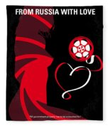 No277-007 My From Russia With Love Minimal Movie Poster Fleece Blanket