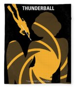 No277-007 My Thunderball Minimal Movie Poster Fleece Blanket