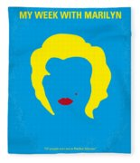 No284 My Week With Marilyn Minimal Movie Poster Fleece Blanket