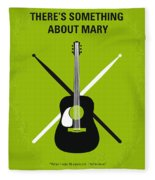 No286 My There's Something About Mary Minimal Movie Poster Fleece Blanket