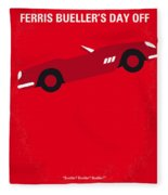 No292 My Ferris Bueller's Day Off Minimal Movie Poster Fleece Blanket