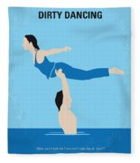 No298 My Dirty Dancing Minimal Movie Poster Fleece Blanket