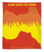 No299 My Gone With The Wind Minimal Movie Poster Fleece Blanket