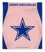 No302 My Debbie Does Dallas Minimal Movie Poster Fleece Blanket