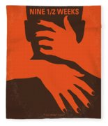 No305 My Nine Half Weeks Minimal Movie Poster Fleece Blanket